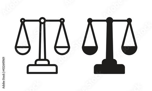 Fotografie, Obraz Scales Justice icon for web site