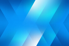 Directional Blue And White Shapes Background