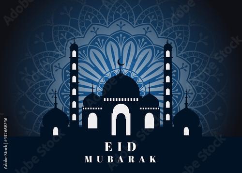 Fototapeta Eid Mubarak greeting design template. obraz