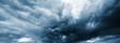 Leinwandbild Motiv Dramatic thunderstorm clouds background