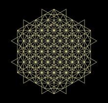 Sacred Geometry - Tetrahedron - Vector Illustration