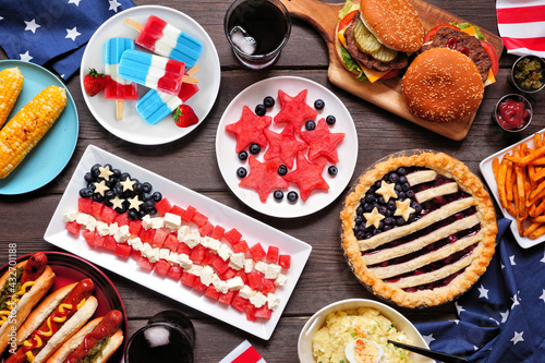 Fotografie, Tablou Fourth of July, patriotic, American themed food