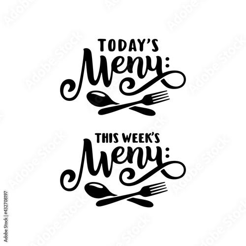 Obraz na płótnie Today's menu