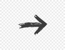 Arrow, Grunde Icon On Transparent Background. Vector Illustration.