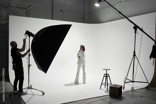 Fashion photography in a photo studio Fototapeta