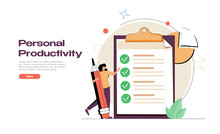 Personal Productivity, Efficiency And Time Management Concept. Personal Growth, Personal Development, Successful Career.