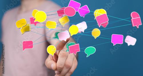 Fotografering Chat bubbles - paper cut design