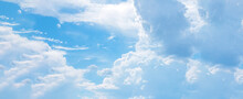 Beautiful Blue Sky With Clouds Horizontal Photography