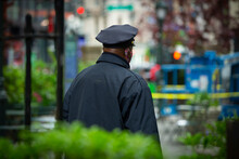 View Of A New York City Police Officer