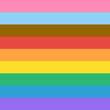 Progress Pride Flag Rainbow Colours Background Vector. LGBT Progress Pride Flag Representing Inclusion And Progression