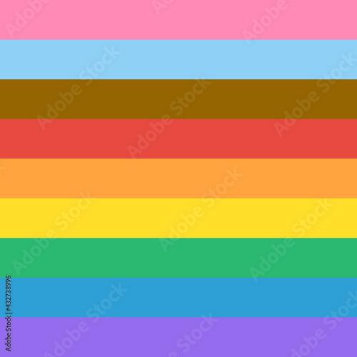 Wallpaper Mural Progress Pride Flag Rainbow Colours Background Vector