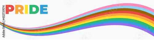 Fotografie, Obraz Pride Banner with LGBT Flag Wave