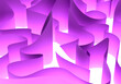 Leinwandbild Motiv Abstract wavy elements on a white background. Abstraction winding texture. White and purple pattern. Purple winding maze svehu view. Abstract walls create a maze. Background maze close-up. 3d sketch
