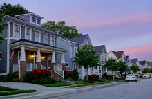 New Homes On A Quiet Street In RaleighNC