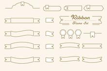 可愛いあしらいデザイン リボン 枠