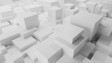 Fototapeta Przestrzenne - 3d rendering of a city view from above. City illustration with checkered shape