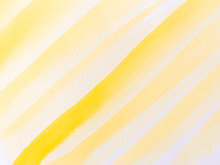 Yellow Stripes Background With Watercolor Texture