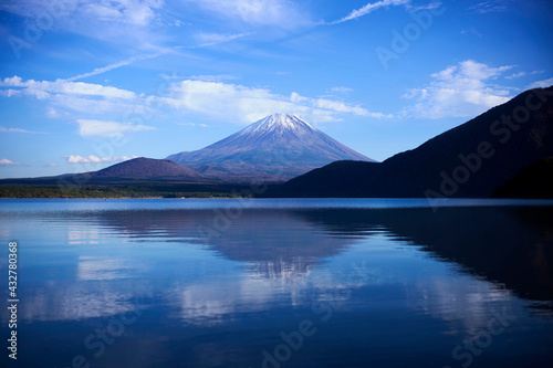 Stampa su Tela 山中湖から見える富士山