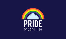 Pride Month Awareness Concept Observed On June Every Year. Pride Month Template For Background, Banner, Poster, Card Awareness Campaign.