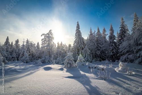 Fototapeta Wielka Sowa punkt widokowy w Górach Sowich w Sudetach obraz