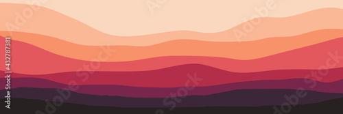 landscape mountain scenery vector illustration for pattern background, wallpaper Tapéta, Fotótapéta