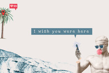 Love Quote Aesthetic I Wish You Were Here Social Media Banner