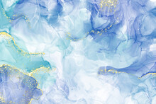 Abstract Alcohol Ink Colors Banner. Mixing Paints.