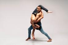 Talented Dancers In Studio Shot