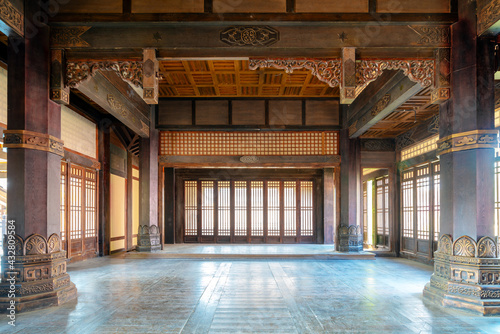 Fototapeta The interior of ancient buildings in the Qin and Han dynasties of China obraz
