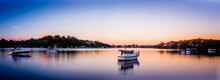 Sunset Scape Along Georges River In Como