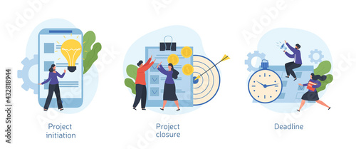 Stampa su Tela Project lifecycle concept