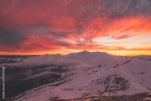 Alpine Sunset On Agrafa Mountains  #432825368