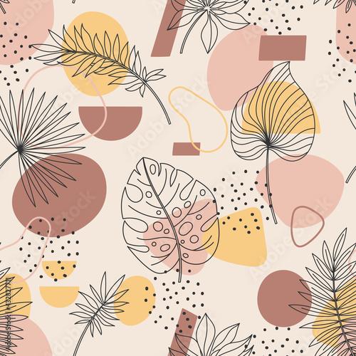 Tapety Boho   abstrakcyjne-liscie-palmowe-bezszwowe-tlo