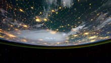 Earth Planet Night Scene Space View From International Space Station ISS, Public Domain Images From Nasa Time Lapse