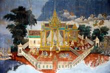Mural Paintings At The Royal Palace Phnom Penh Cambodia