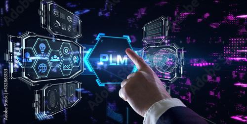 Fotografia PLM Product lifecycle management system technology concept