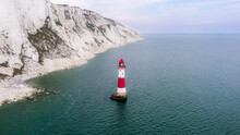 Areal View Of The Beachy Head Lighthouse
