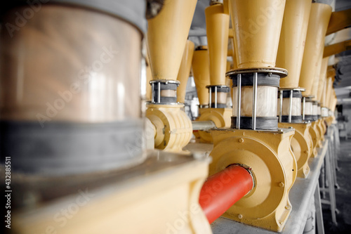Canvas-taulu Modern electrical mill machinery for production of wheat flour
