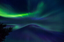Northern Lights In Kiruna, Lapland, Northern Sweden
