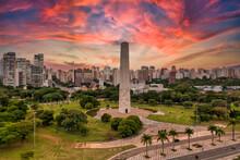 Foto Aerea, Do Obelisco Da Revolução De 1932 Em São Paulo