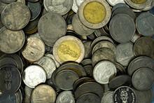 A Lot Of Old Thai Bath Coins