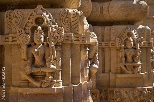 Leinwand Poster Chandraprabhu Jain Temple inside the Jaisalmer fort