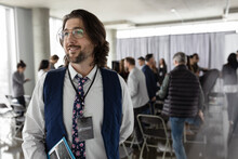 Businessman At Business Conference