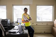 Portrait Of Supervisor In Warehouse Office