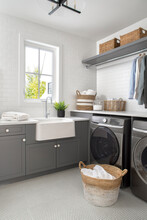 Luxury Home Showcase Interior Laundry Room With Sink