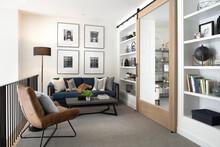 Home Showcase Interior Mezzanine Sitting Area With Sofa