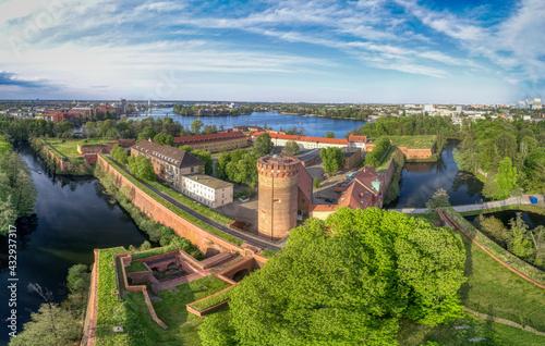 Canvas Zitadell Spandau in Berlin, Luftaufnahme Mai 2021