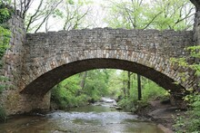Lincoln Bridge A Beautiful Historic Site Built Over A Stream In The Chickasaw National Recreation Area