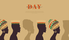 Africa Day Template Black People Community