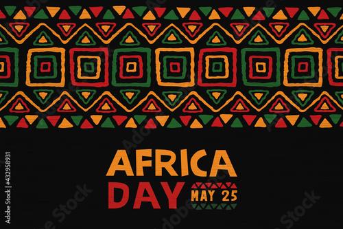 Fototapeta Africa Day may 25 colorful ethnic tribal art banner obraz